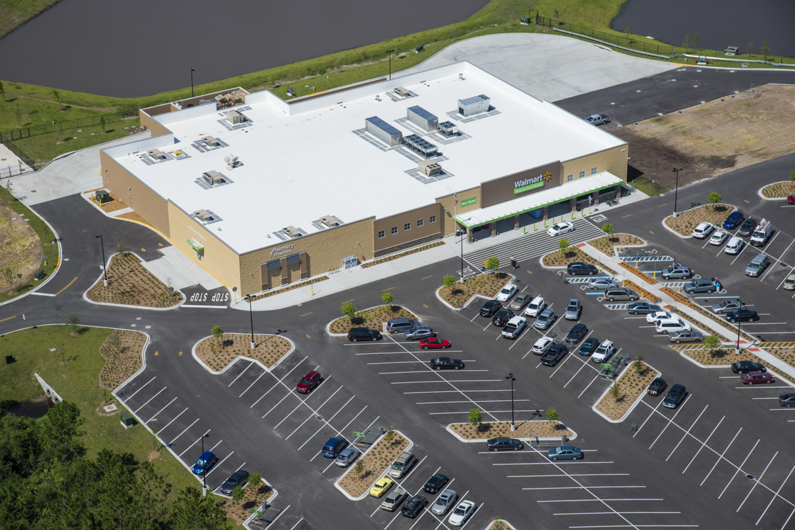 Wal Mart Boggy Creek Completed Martin Paving